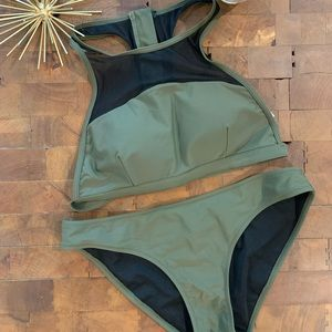 Medium army green bikini